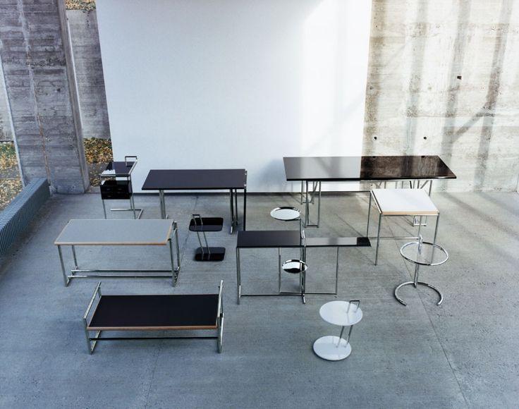 Adjustable Table E 1027 Black Version - Eileen Gray