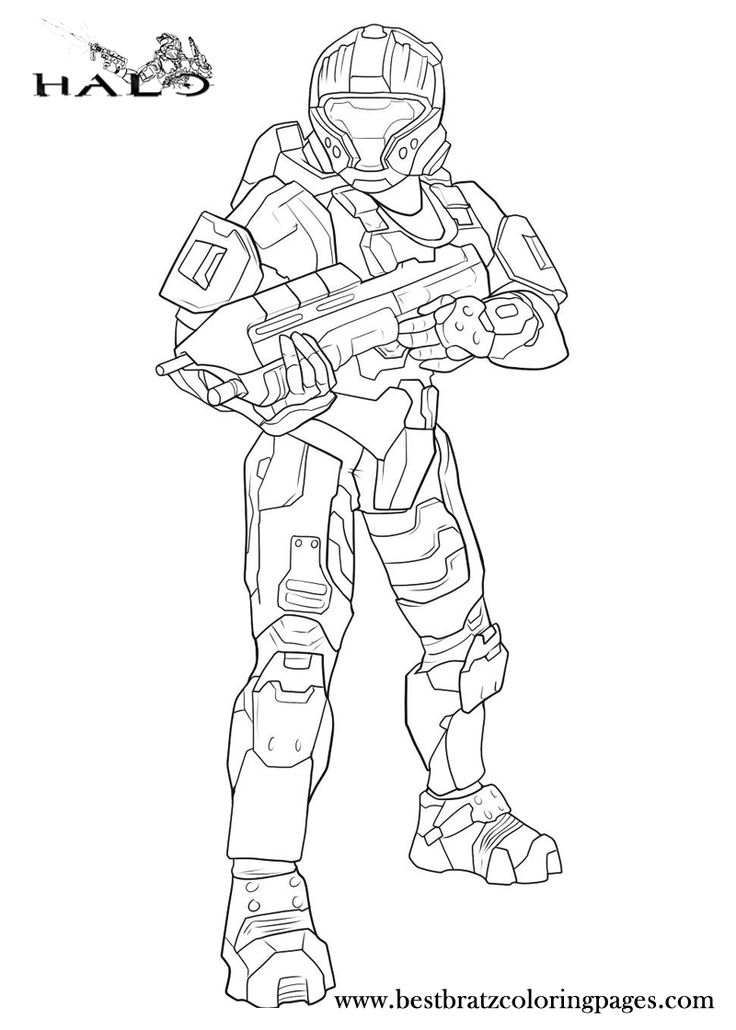halo mega block coloring pages - photo#13