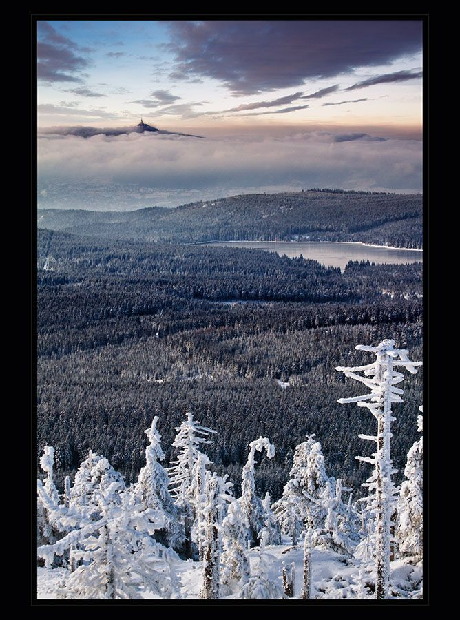Jan Strakoš: Ještěd z vrcholu Holubníku