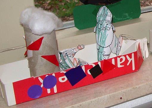 Knutselideeen voor kinderen, rondom het thema Sinterklaas. Knutselen voor Sinterklaas en nog meer thema's vind je op deze site