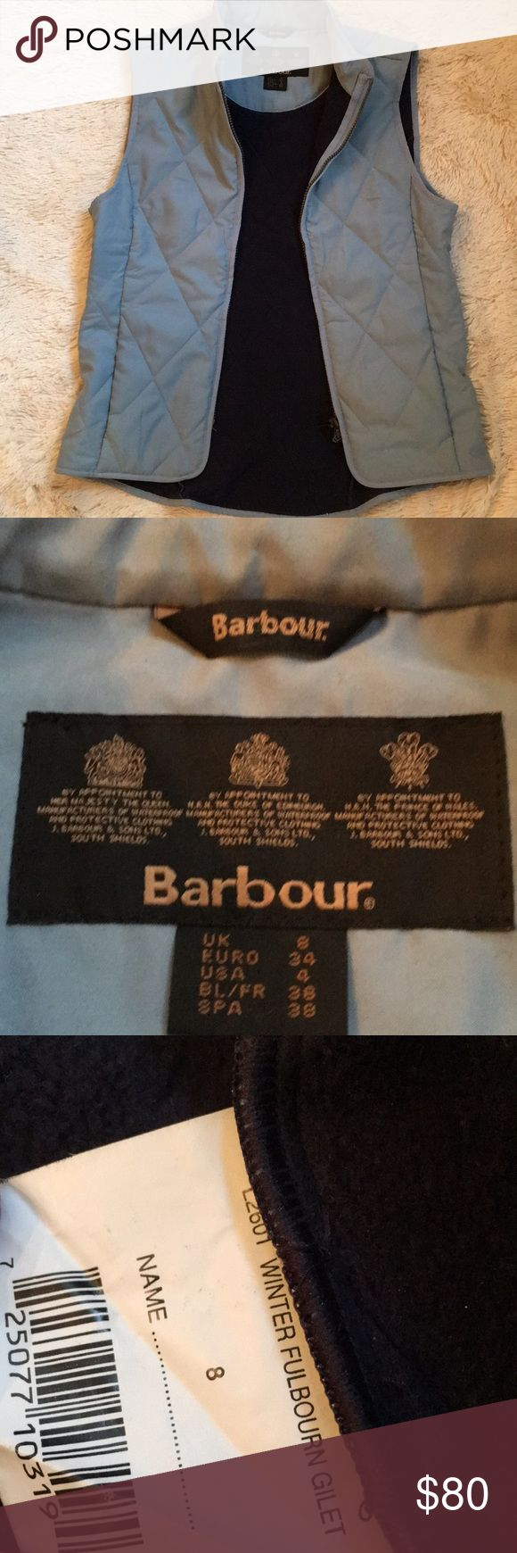 Barbour SLATE BLUE  vest This is a terrific in excellent condition Barbour vest. Winter fulbourn gilet vest.  The color is beautiful  prefect with jeans. Barbour Jackets & Coats Vests