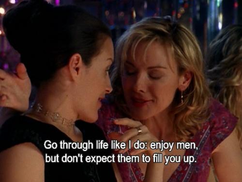 Samantha Jones. my hero.: