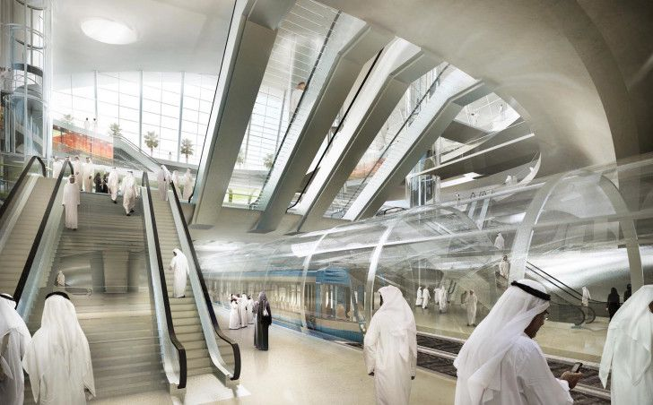 Saudi Arabia's new metro station will house a shopping mall, a multi-level car park, and two subway lines.