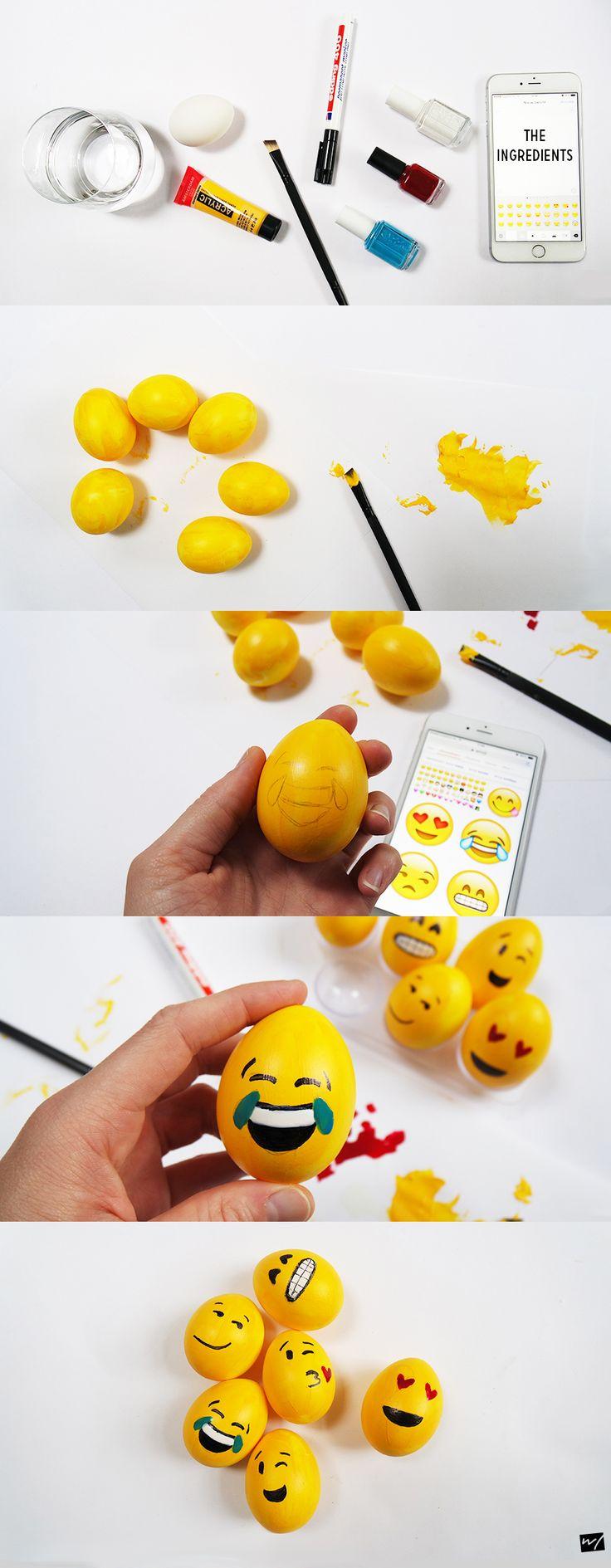 DIY: Emoji paaseieren!