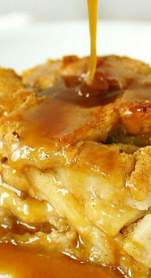 APPLE RUM BREAD PUDDING  WITH BUTTERSCOTCH RUM SAUCE ~~~  THIS, my friends, is what bread pudding is ALL ABOUT.