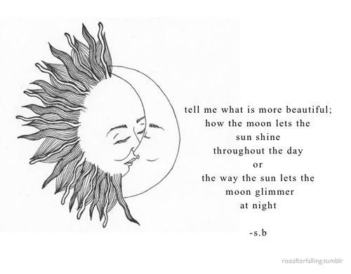 Sun & moon love. #romance