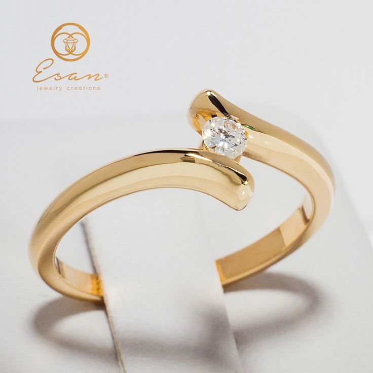 Inel de logodna din aur cu diamant ES32