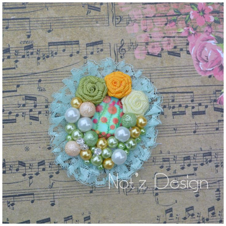 cabochon pearl brooch , code : CB6 , order-->> line: notzdesign , WA +6282174424949