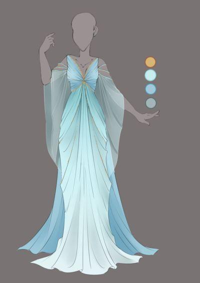 :: Commission August 03: Outfit Design :: by VioletKy.deviantart.com on @DeviantArt