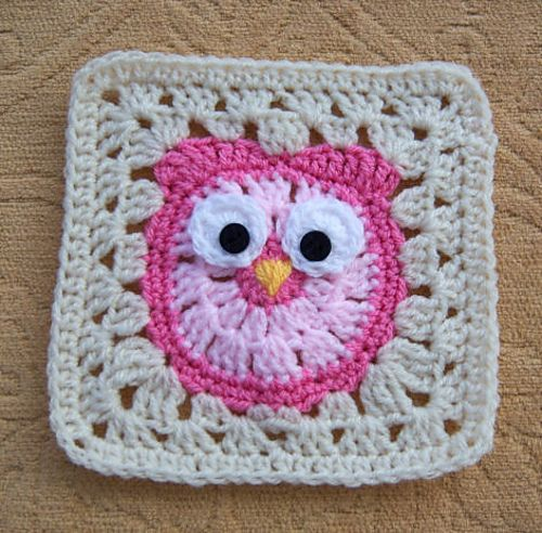 Crochet Owl : ... Owls, Crochet Owl Afghan, Crochet Owl Square, Colors Owls, Crochet Owl