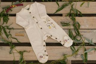 Enterito de algodón orgánico y botones de coco- Chunchino eco-bebé