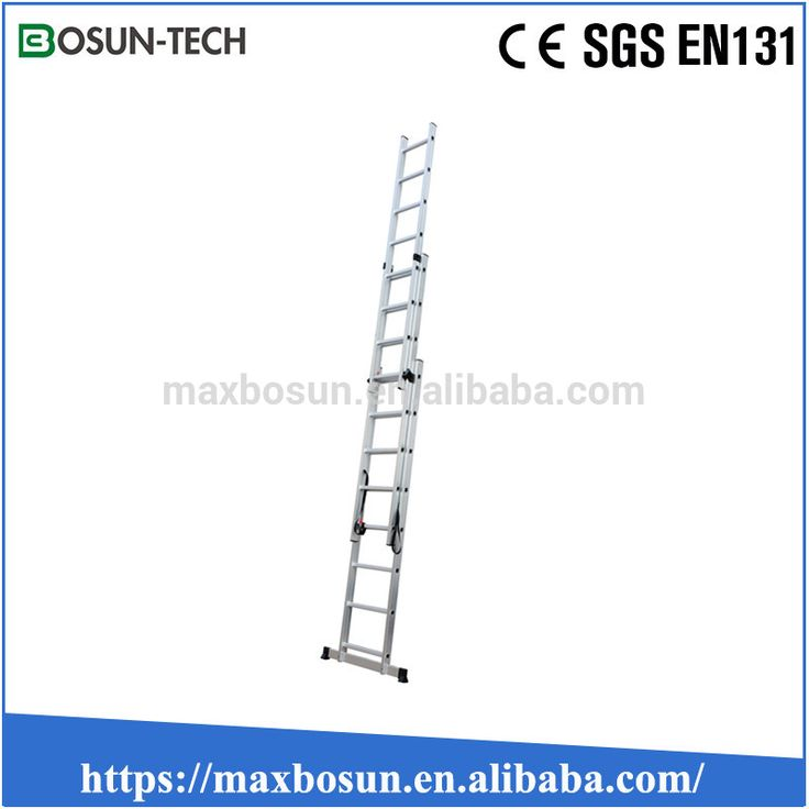 cheap aluminum lightweight triple extension ladder