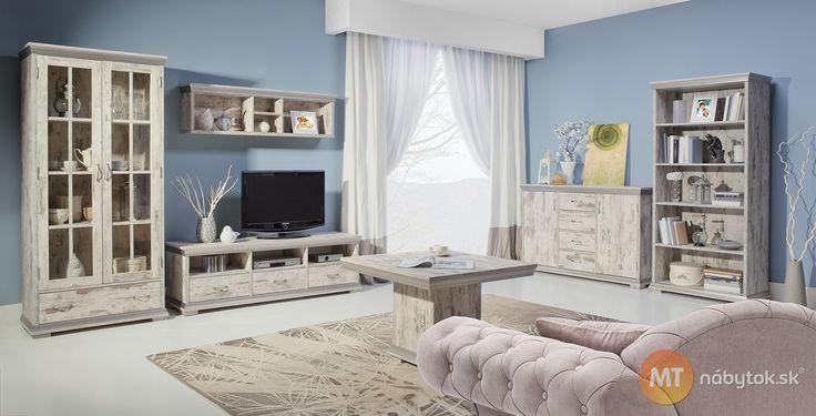 Rustikálny nábytok do obývacej izby Modesto, dub