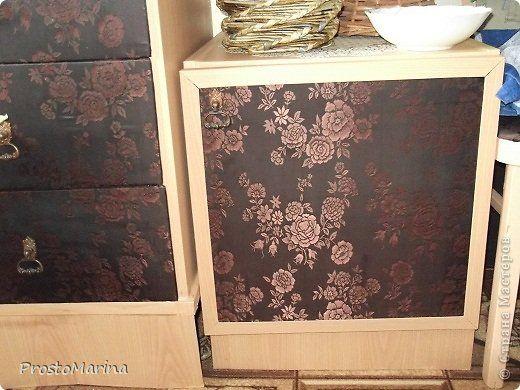 Интерьер Моя переделанная мебель Ткань фото 8