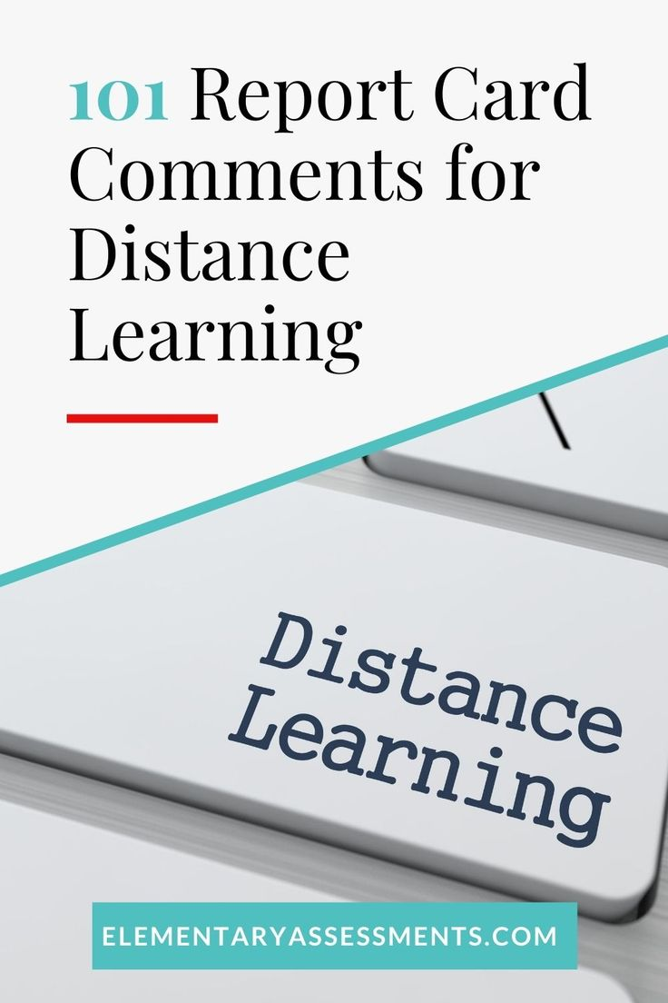 101 report card comments for distance learning in 2020