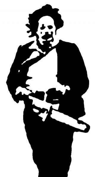 Vinyl Decals Near Me >> leatherface | DIY 4 Lyfe | Stencil art, Pencil drawings ...