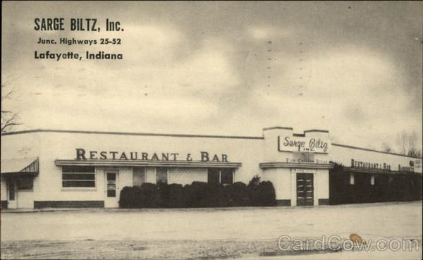 Sarge Biltz, Inc. Restaurant and Bar Lafayette Indiana: Restaurant Bar