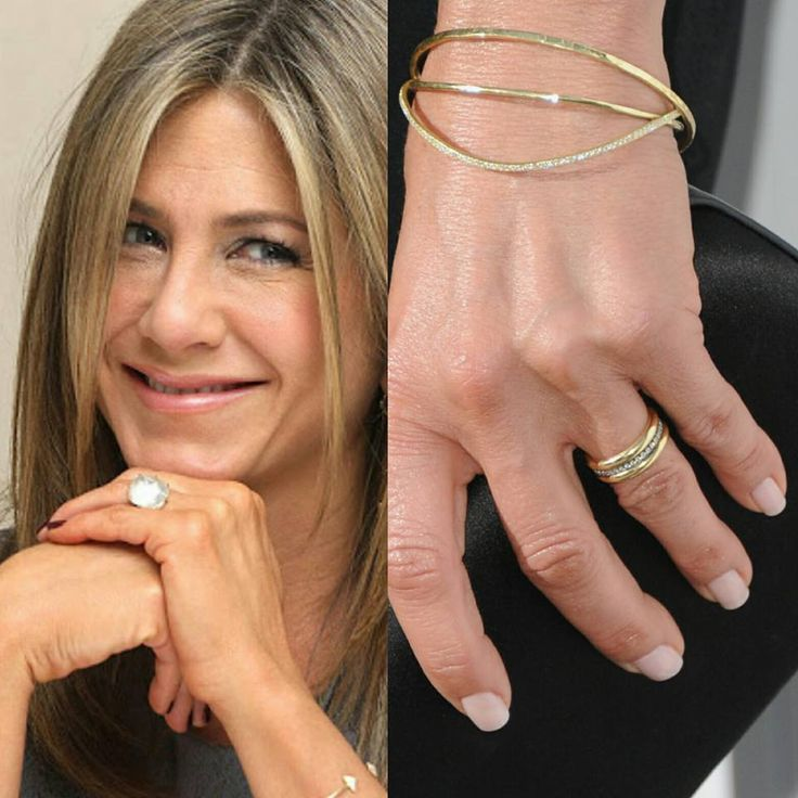 20 best celebrity engagement rings images on pinterest celebrity its been two weeks since jennifer aniston wedding and here are the first photos of her gold bandscelebrity junglespirit