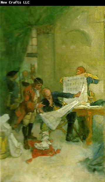 Carl Larsson omarbetat forslag till vaggmalningar i nationalmusei nedre trapphall
