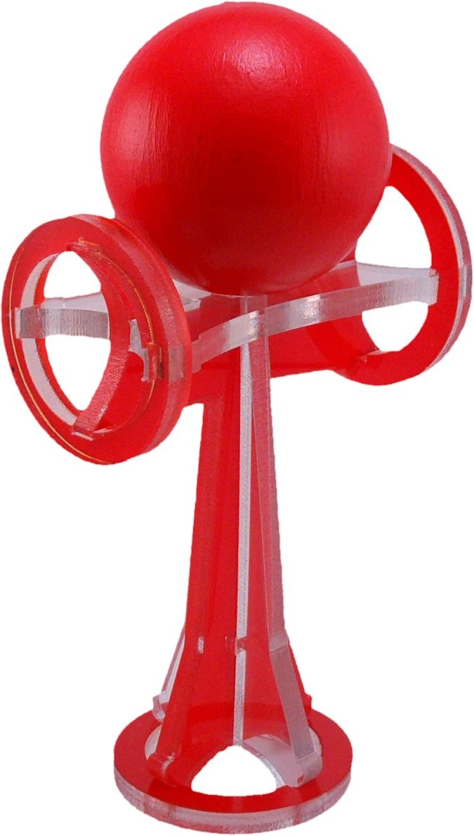 Cherry red kendama toy