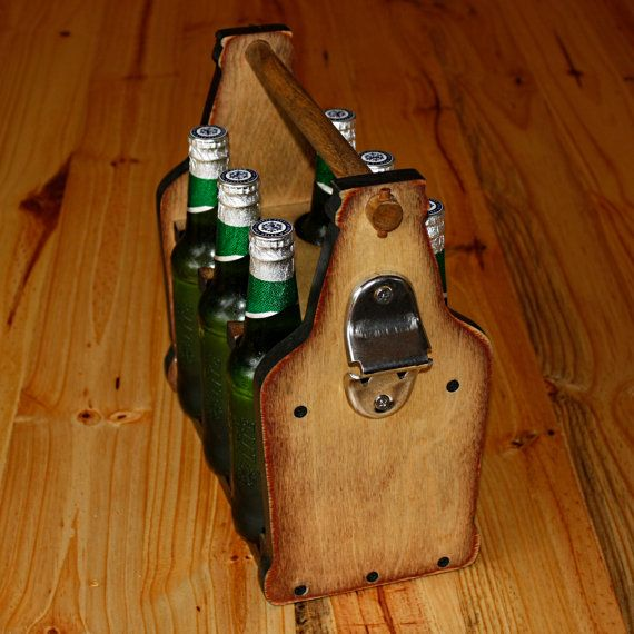 Wooden Beer Tote by NicheWood on Etsy