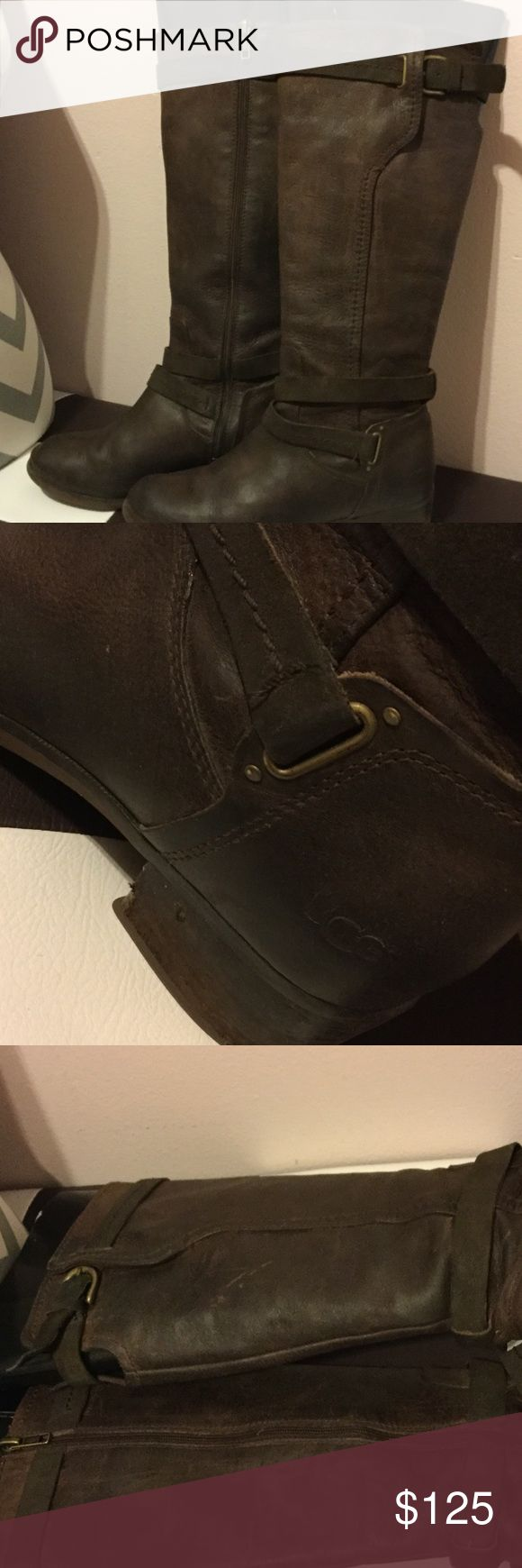 Ugg Darcie boots 7.5W These have been worn in great condition minor flaws on heels extremely comfortable and classy 👢size 7.5 women's brown retail $295 UGG Shoes Heeled Boots