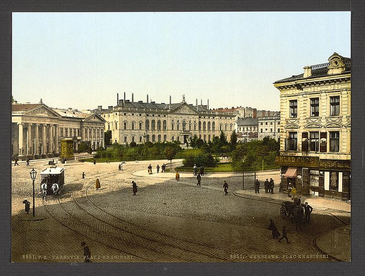 Krasinski Place, Warsaw, Poland. 1900. Source: U.S. Library of Congress.