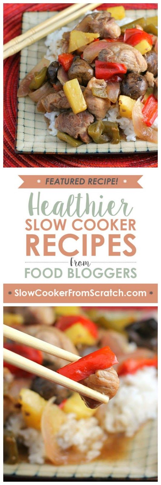 No need to order Chinese food, just make this tasty Slow Cooker Sweet and Sour Pork from The Weary Chef! [featured on SlowCookerFromScratch.com]