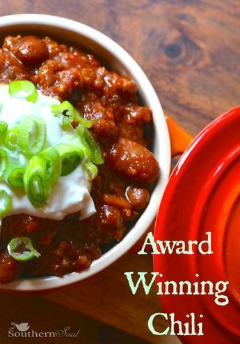Award Winning Chili Recipe from A Southern Soul.  Make it in a dutch oven on the stove top or in the slow cooker.