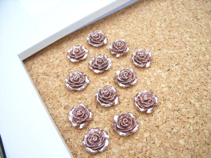 Rose Gold Push Pins, Office Cubicle Decor, Rose Gold Decor, Thumbtack, Desk Accessories, Decorative Push Pins, Bulletin Board Tacks, by RetroModHome on Etsy https://www.etsy.com/listing/514705791/rose-gold-push-pins-office-cubicle-decor