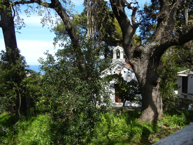 One of the many churches in Skopelos.
