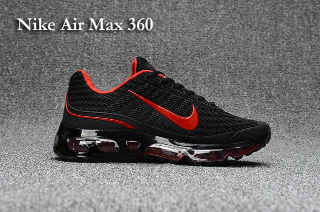Nike Air Max 360 Men's shoes Black Red | Running shoes nike