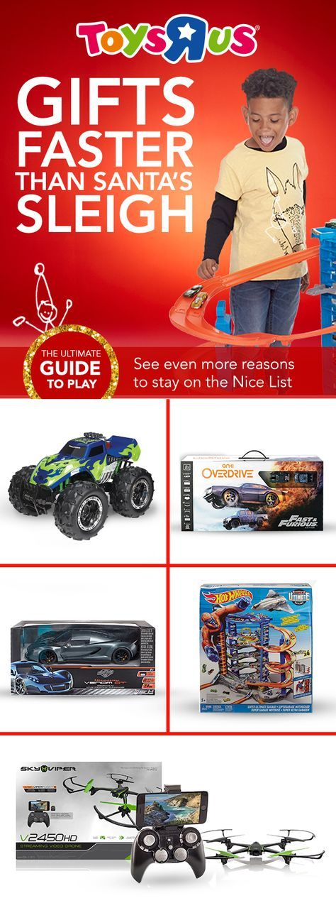 Santa may have a cool sleigh, but we've got fast vehicles & drones that slay. Fast Lane, Hot Wheels, Fast & Furious, Hennessey Venom GT—the names built for speed. Check 'em out in store & online. #todayweplay