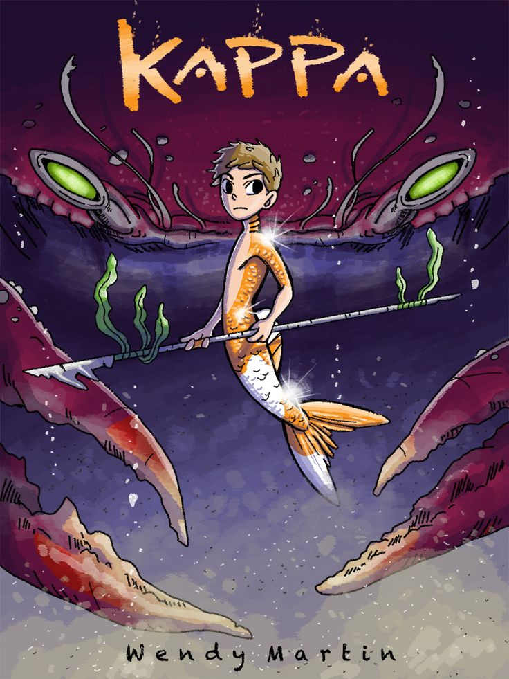 Kappa follows magic-using merfolk huntresses in a struggling underwater kingdom.  They find a goldfish boy named Kappa, who seems to be pretty adept at fighting off the ocean's predators.  But can he be trusted, or is trouble lurking behind him in every cove?  The art is adorable in this comic, the setting seems like a lot of fun, and I just love the use of color.  It's fairly new, so I'm curious to see where it goes!  Check it out at kappacomic.com!
