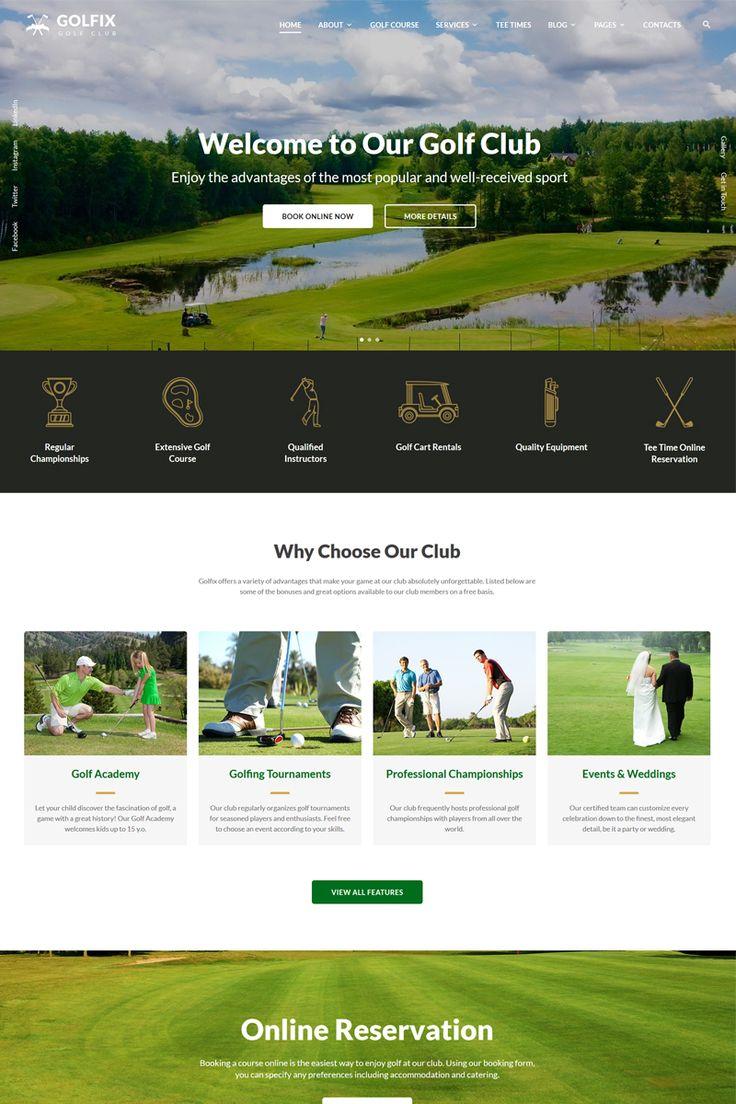 Golfix - Golf Club Multipage HTML Website Template Big Screenshot