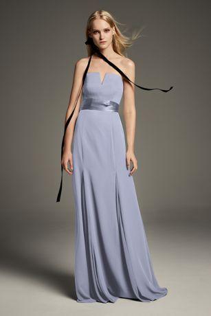 20423325b0c V-Wire Crepe Mermaid Satin Sash Bridesmaid Dress Style VW360453 ...