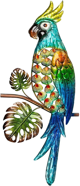 Wanddeko Papagei Deko Vogel Figur Ara Deko Vogel Papagei Figur