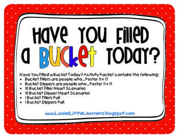 Have You Filled a Bucket Today? Activity Packet
