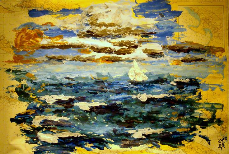 Jacek Sikora ( #Siccora ) MALELI SEA, 2011, Acrylic on sea map, 70 x 100 cm #art #contemporary #fineart #canvas #abstract #abstractart #abstractpainting #abstraction #painting #contemporaryart #deep #design #loveart #visualartist #modern #buyart #abstract #impression