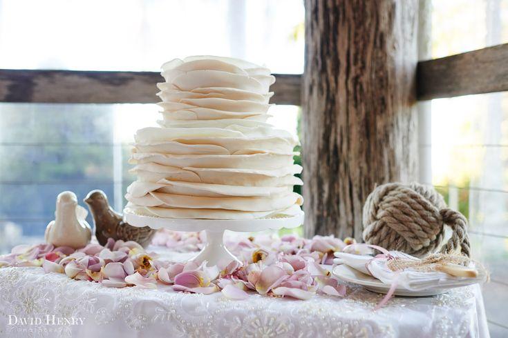 Beautiful wedding cake by Leah Burley