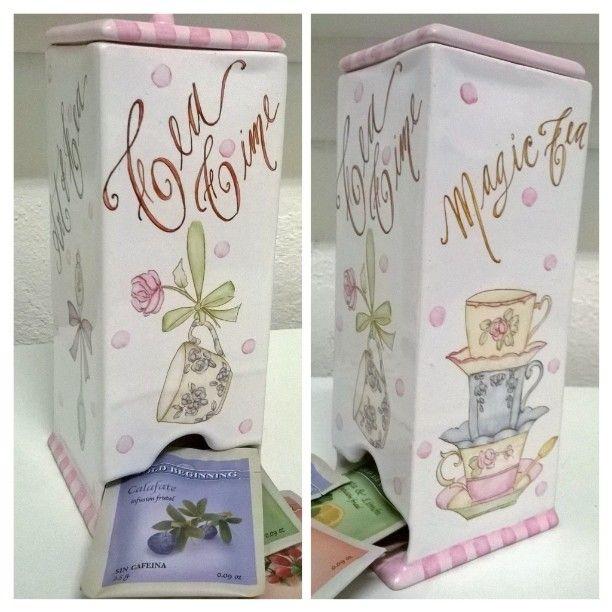 ❤ cajita de té ❤ #cerámica #detallesparamicocina