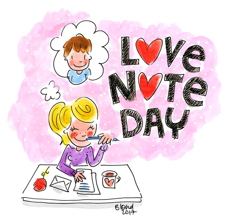 Happy Love Note Day! 26 september 2017 by Blond-Amsterdam