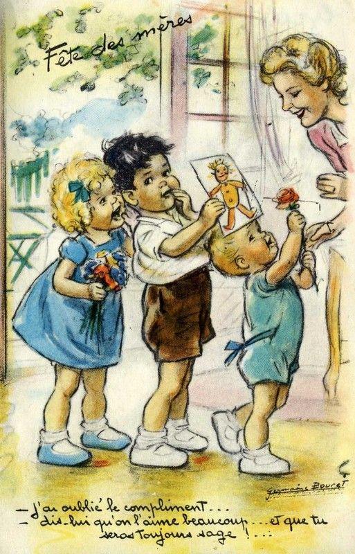 Mother's Day Gifts ~ Vintage Germaine Bouret postcard