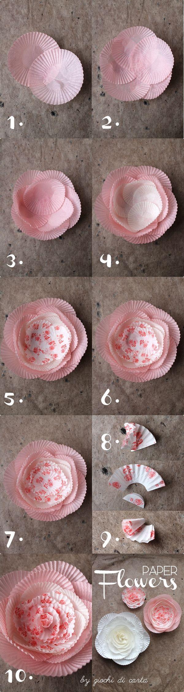 BZCasa Magazine - http://mag.bzcasa.it/abitare/casa-green/decorazioni-di-natale-fai-da-te-7-fiori-con-i-pirottini-dei-cupcakes-557/