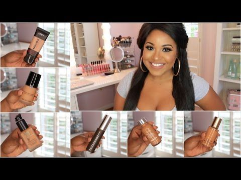 Favorite Foundations | Drugstore + Highend! - YouTube
