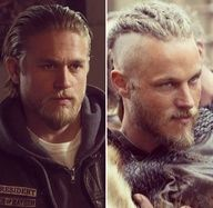Travis Fimmel & Charlie Hunam brothers from another mother that could be fathered by Brad Pitt, perhaps?