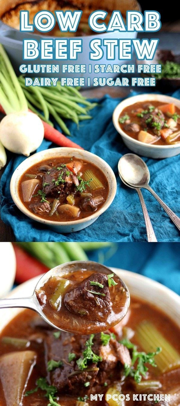 Low Carb Beef Stew In A Dutch Oven My Pcos Kitchen Fork Tender