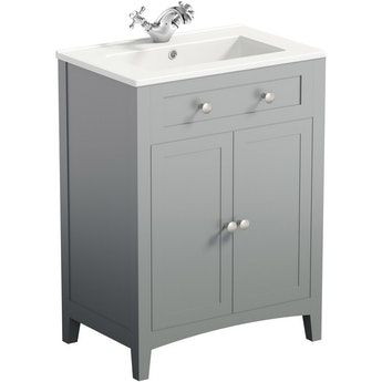 The Bath Co. Camberley grey vanity unit with basin 600mm