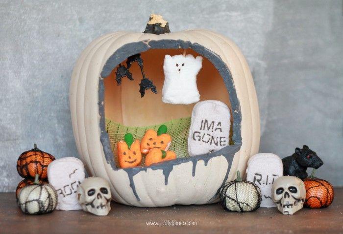 Peeps-O-Lantern Halloween display
