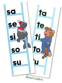 Blend Ladders. A Beka phonics, six steps to reading